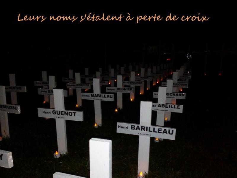 Commémoration 14 - 18 à Montoire, les croix au square du souvenir