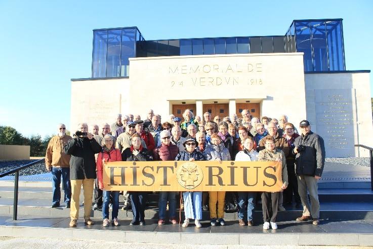 Le groupe Hist'Orius au Mémorial de Verdun