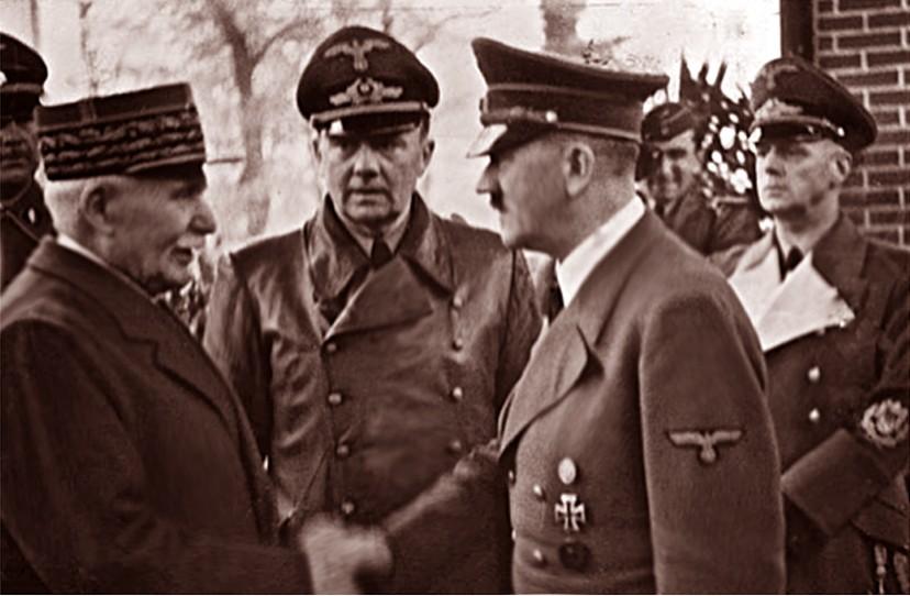 Poignée de main Pétain-Hitler à Montoire