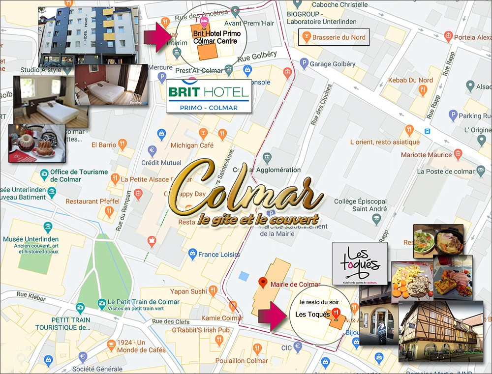 Cliquer sur l'image pour découvrir le restaurant du soir - Mit einem Klick auf das Bild das Restaurant des Abends entdecken